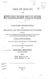 Über die quellen der mittelenglischen Paulus-vision