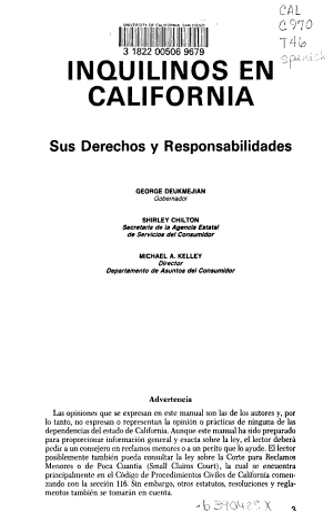 Inquilinos en California PDF