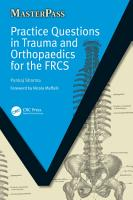 Practice Questions in Trauma and Orthopaedics for the FRCS PDF