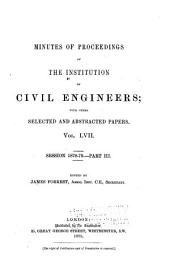 Minutes of Proceedings of the Institution of Civil Engineers: Volume 57