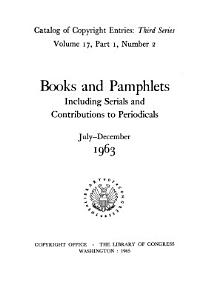 Catalog of Copyright Entries  Third Series PDF