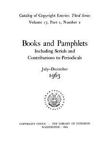 Catalog of Copyright Entries  Third Series PDF