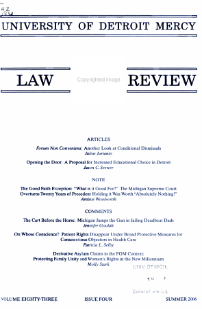 University of Detroit Mercy Law Review PDF
