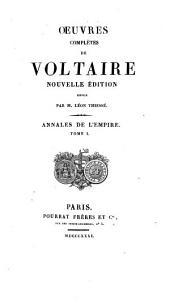 Oeuvres complètes de Voltaire: Annales de l'Empire