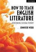 How To Teach English Literature