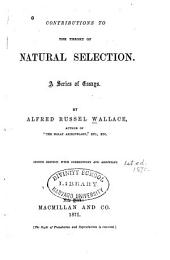 Contributions to the Theory of Natural Selection: A Series of Essays