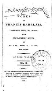 The Works of Francis Rabelais: Volume 3