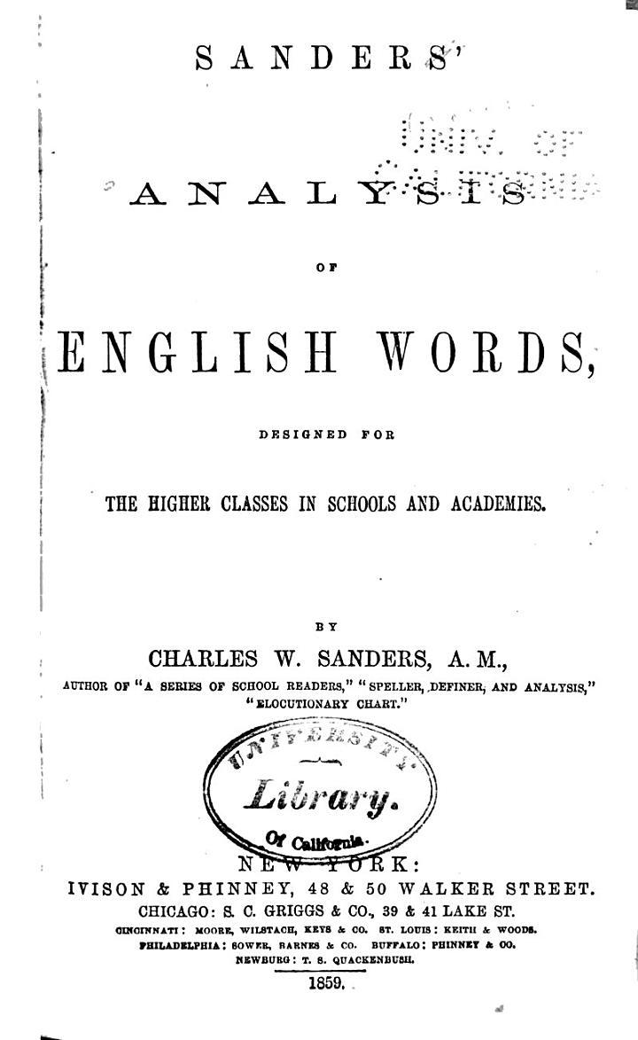 Analysis of English Words
