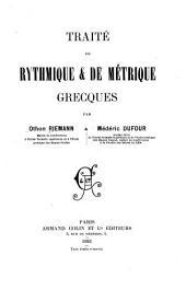 Traité de rhythmique & de métrique grecques