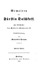 Memoiren der Furftin Dafchfoff