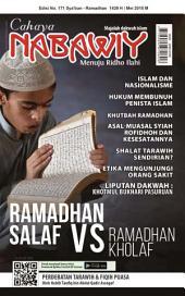 Cahaya Nabawiy Edisi 171 RAMADHAN SALAF VS RAMADHAN KHOLAF: ETIKA MENGUNJUNGI ORANG SAKIT