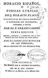 Horacio español o Poesias lyricas