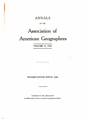Annals of the Association of American Geographers