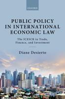 Public Policy in International Economic Law PDF