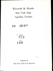 Records & Briefs New York State Appellate Dvision