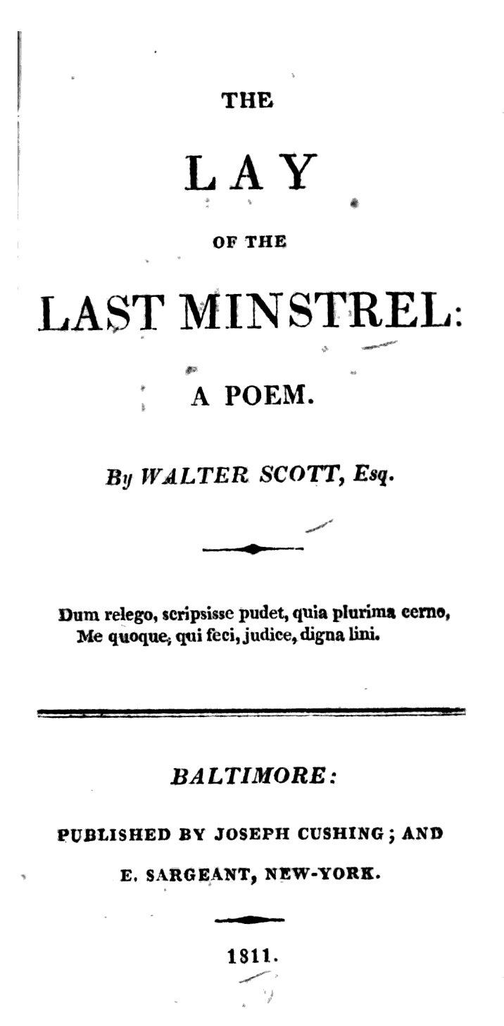 Lay of the Last Minstrel