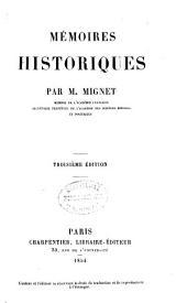 Mémoires historiques: Volume1