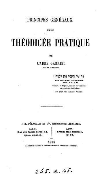 Download Principes g  n  raux d une th  odic  e pratique Book