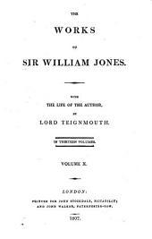 The Works of Sir William Jones: Volume 10