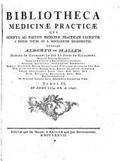 Bibliotheca medicinae practicae qua scripta ad partem medicinae practicam facientia a rerum initiis ad a 1775 recensentur: Volume 2