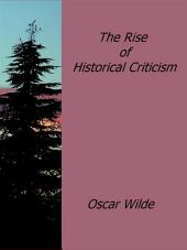 The Rise of Historical Criticism