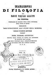 Elementi di filosofia del barone Pasquale Galluppi da Tropea: La logica mista e filosofia morale, Volume 2