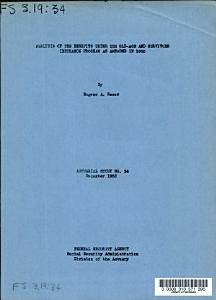 Analysis of the Benefits Under the Old age and Survivors Insurance Program as Amended in 1952 PDF