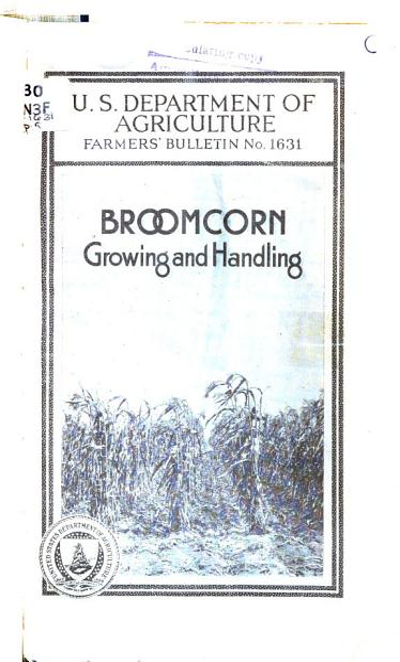 Download Broomcorn Growing and Handling Book