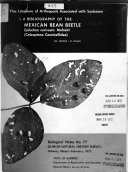A Bibliography of the Mexican Bean Beetle  Epilachna Varivestis Mulsant  Coleoptera Coccinellidae  PDF