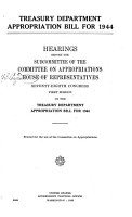 Treasury Department Appropriation Bill for 1944 PDF