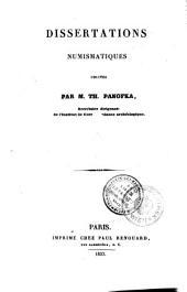 Dissertations numismatiques