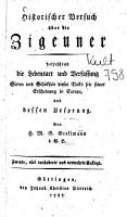 Historischer Versuch   ber die Zigeuner PDF