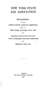 Proceedings and Committee Reports: Volume 45