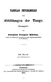 Tabulae phycologicae oder Abbildungen der Tange: VII