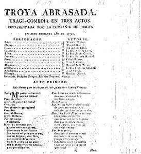 Troya abrasada  Tragi comedia en tres actos  Representada por la Compa    a de Ribera en este presente a  o de 1791   By P  Calderon de la Barca and J  de Zabaleta   PDF