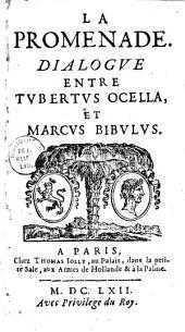 La Promenade: Dialogue entre Tubertus Ocella et Marcus Bibulus