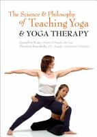 The Science and Philosophy of Teaching Yoga and Yoga Therapy PDF