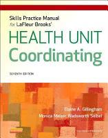 Skills Practice Manual for LaFleur Brooks  Health Unit Coordinating   E Book PDF