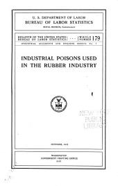Industrial Poisons Used in the Rubber Industry