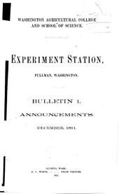 Bulletin - State College of Washington, Agricultural Experiment Station