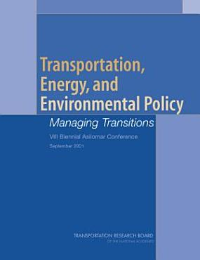 Transportation  Energy  and Environmental Policy PDF