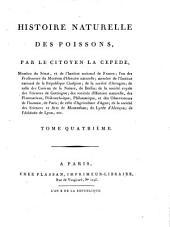 Histoire naturelle des poissons, par le citoyen La Cepède, ... Tome premier [-cinquième]: 4