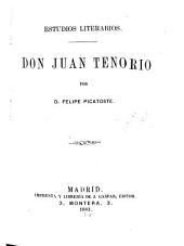 Estudios literarios: Don Juan Tenorio