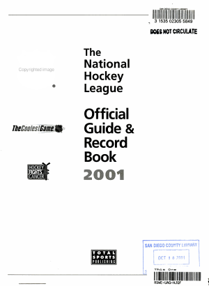 The NHL Official Guide and Record Book 2001 PDF