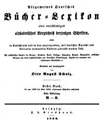 Allgemeines B Cher Lexikon Bd 1828 34 Bearb U Hrsg Von O A Schulz 1836 38 2 V