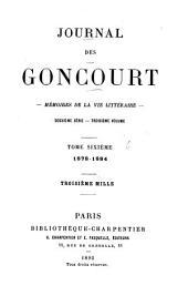 Journal des Goncourt--: 1878-1884. Édition définitive, publiée sous la direction de l'Académie Goncourt. [1935