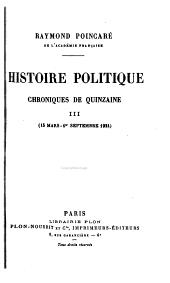 Histoire politique: chroniques de quinzaine, Volumes3à4