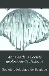 Annales de la Société géologique de Belgique: Volume11