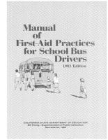 Manual of First Aid Practices for School Bus Drivers PDF