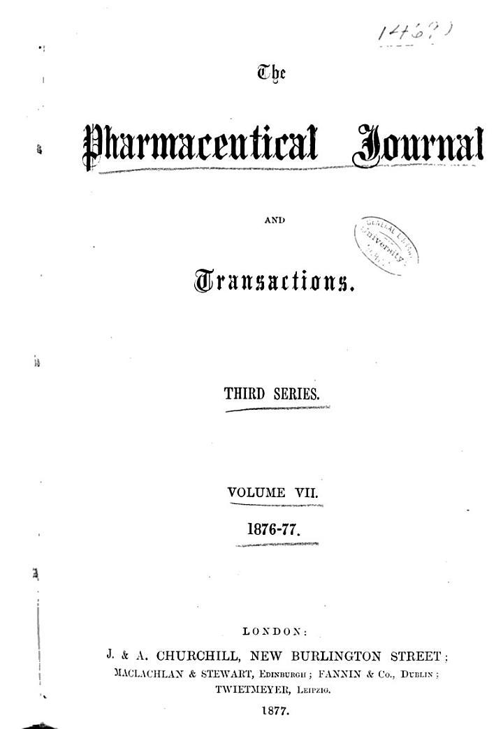 Pharmaceutical Journal;